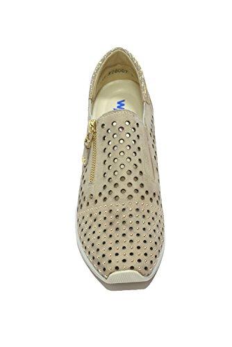 Melluso Slip on sneakers zeppa corda scarpe donna Walk Techno R20007