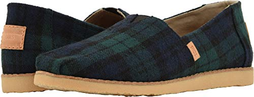 Soft Multi Buffalo - TOMS Women's Alpargata Spruce Plaid Felt 8.5 B US
