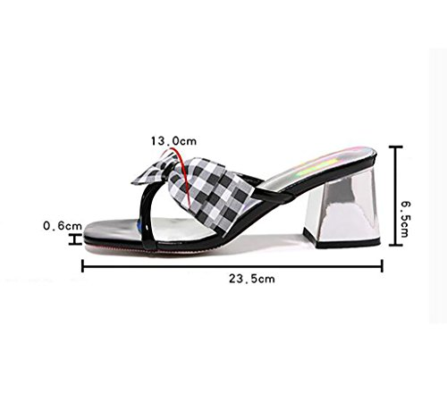 Sandals and slippers women's summer Korean version of the wild thick with slippers wear stylish high heels shoes Flat Sandals,Fashion sandals (Color : A, Size : 40) A