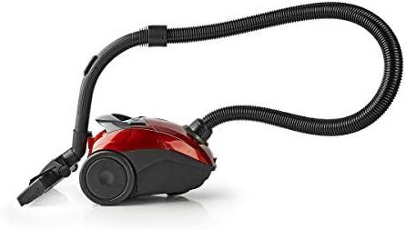 Maxorado Aspirateur compact 700 W Sac avec buse combinable pour tapis sols durs et poils d\'animaux universels Rouge + sac d\'aspirateur Staubsauger rouge