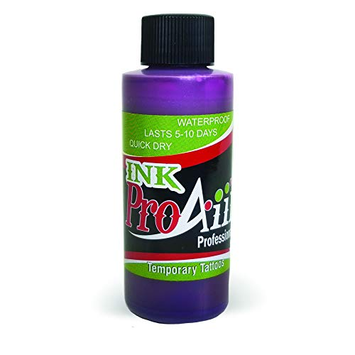 Body Paint - ProAiir Temporary Tattoo Ink - 2.1 oz (60ml) Purple