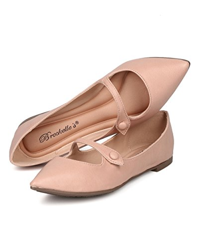 Balletto Punta A Punta Breckelles - Mary Jane Flat - Slip On Flat - Gi91 In Similpelle Blush