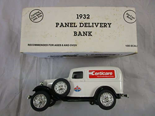 1990 Ertl Die Cast 1932 Panel Delivery Truck Amoco Certicare Coin Bank 1:25
