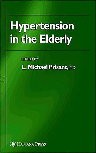 Book Hypertension in the Elderly (Clinical Hypertension and Vascular Diseases)
