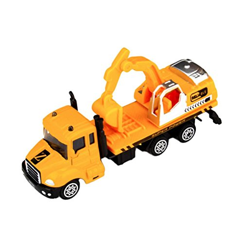 E-SCENERY 1:64 Alloy Truck Engineering Vehicles Toy Construction Vehicles, Toy Trucks Simulation Model Car Toys Birthday Gift for Kids Boys and Girls (Excavator)
