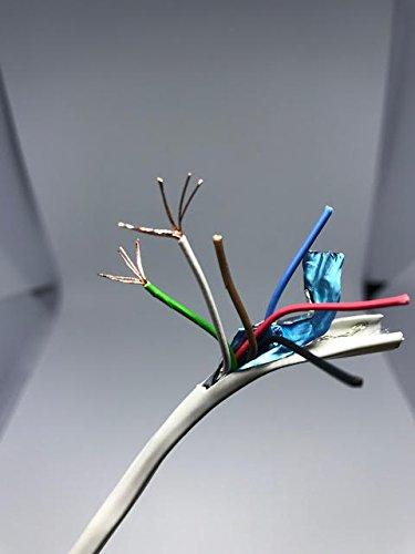 プレナム全体的なシールド22 AWG 6 C Stranded裸銅線ワイヤケーブルCMP cl3p 1000 ft長さプレナム配線ケーブルシールド22 AWG 6 C   B078RPGTR2