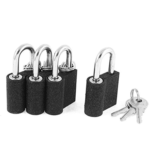 uxcell 5cm x 2.8cm Metal Security Drawer Gate Door Lock Padlock 4pcs by uxcell