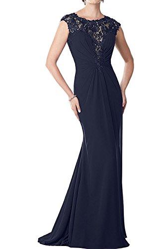 Navy Abschlussballkleider Dunkel Spitze Braut Brautmutterkleider Blau La Etuikleider Abendkleider Marie Damen Lang wSYBYxqv
