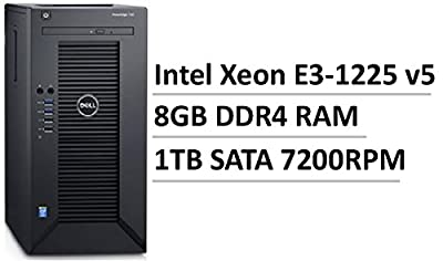 2017 Flagship Dell PowerEdge T30 Mini Tower Server, Intel Xeon Quad-Core E3-1225 v5 up to 3.7GHz, 8GB DDR4, 1TB SATA 7200RPM, Intel HD Graphics P530, DVDRW, No Operating System (Certified Refurbished)