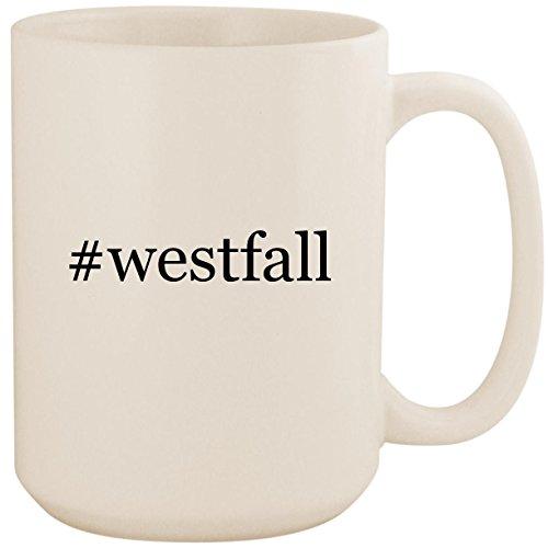 (#westfall - White Hashtag 15oz Ceramic Coffee Mug Cup)
