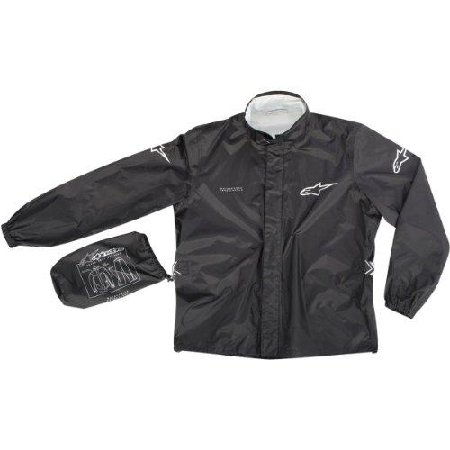 Alpinestars Quick Seal Out Rain Jacket and Pants , Distinct Name: Black, Primary Color: Black, Size: Lg, Gender: Mens/Unisex 3264512-10-L