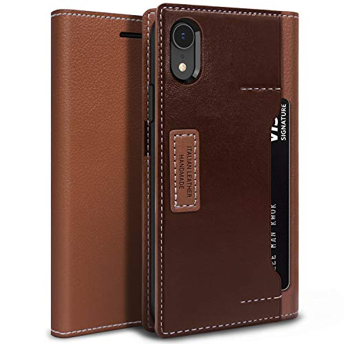 OBLIQ iPhone XR Case, [K3 Wallet] with Three Card Slot and Foldable Leather Flip Cover for Apple iPhone XR 6.1