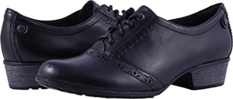 Rockport Cobb Hill Collection Women's Cobb Hill Gratasha Oxford Black Leather Shoe (Rockport Black Oxford)