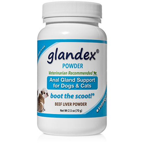 Glandex Powder 2.5 oz, Anal Gland Fiber & Probiotic Digestive Supplement for Dogs & Cats