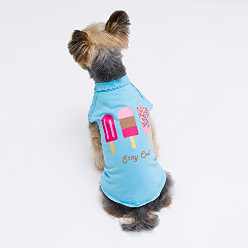 Image of Stinky G Pet Stretch Cotton T Shirt New Print 2017 Size #10, Popsicles