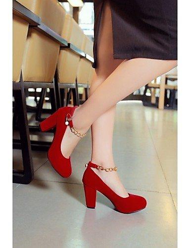 Vestido us10 Rojo 5 us3 Negro 5 5 us10 Semicuero Oficina Robusto eu42 ZQ Trabajo Casual y Zapatos eu42 cn43 Tacones red red red Tac¨®n de 5 5 cn32 cn43 uk8 Tacones uk1 uk8 eu33 mujer 5 pAvxg6