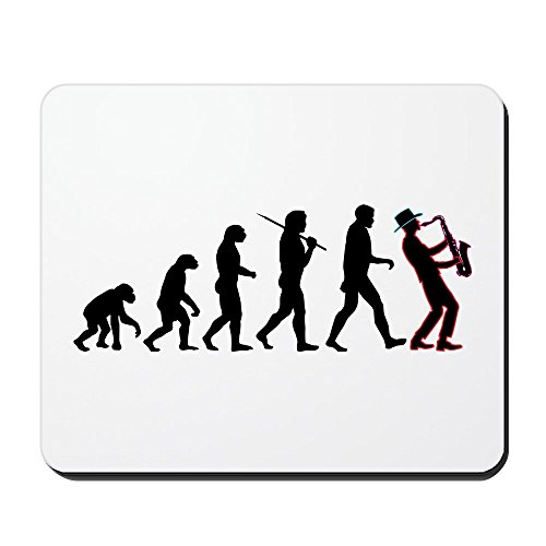 Price comparison product image CafePress - Saxophone Player Evolution Mousepad - Non-slip Rubber Mousepad, Gaming Mouse Pad