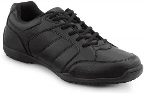 SR Max Rialto Men's Black Slip Resistant Athletic Sneaker
