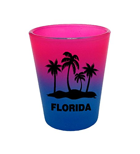 (PALM TREE FLORIDA FUNNY SHOT GLASS COLLECTABLE SOUVENIR NOVELTY GIFT 16PB)