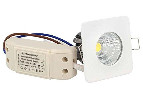 Flexo Mini Bombilla Led Encastrable de Techo 3=25W Blanco Cálido Cuadrada 24 Grados 60 X 60 mm: Amazon.es: Iluminación
