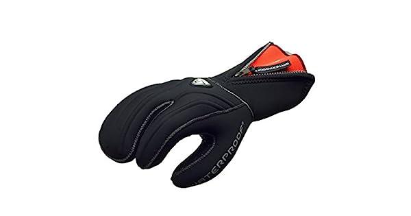 Amazon.com: Impermeable 7 mm G1 3 dedo Semi Dry Guante ...