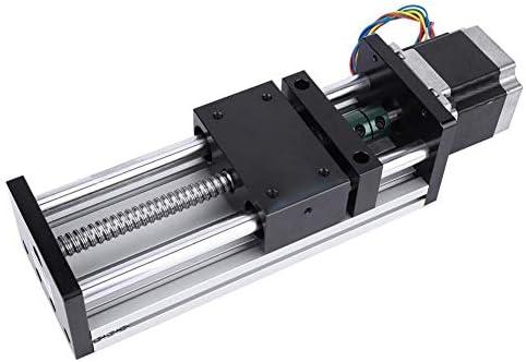 DJY-JY Linearaktuator Motorisierte Schlitten, 400mm Stroke Linearführungsschiene Schlitten mit NEMA17 42 Schrittmotor (1204)
