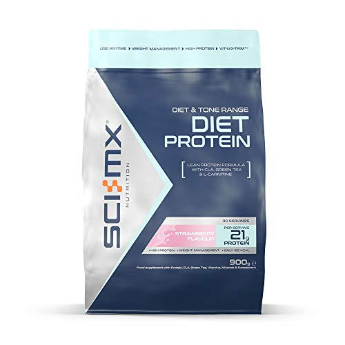 SCI-MX Nutrition Diet Protein Powder, Low Calorie Shake, 900 g, Strawberry, 30 Servings