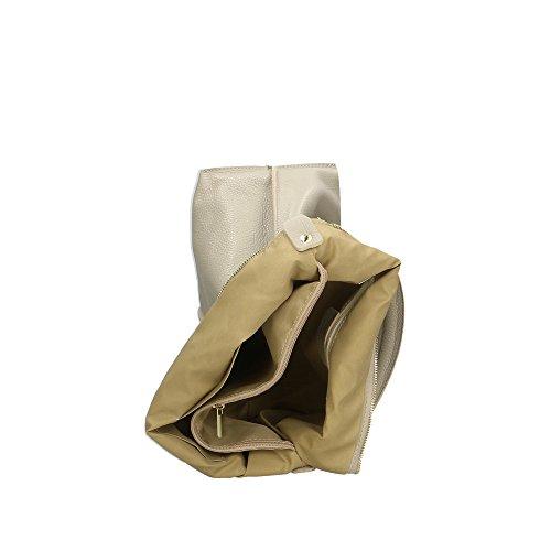 pour à italie fabriqué Aren Cm 45x26x14 en femme véritable Gris bandoulière cuir sac en 5tnxwqUgS