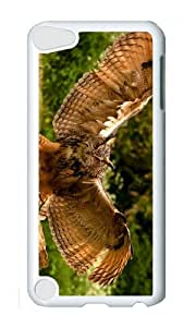 Ipod 5 Case,MOKSHOP Awesome owl wings Hard Case Protective Shell Cell Phone Cover For Ipod 5 - PC White