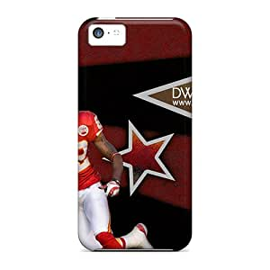 New TPw3309XIIn Kansas City Chiefs Skin Case Cover Shatterproof Case For Iphone 5c
