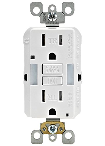 Leviton GFNL1-W Self-Test SmartlockPro Slim GFCI Tamper-Resistant Receptacle with Guidelight and LED Indicator, 15-Amp, 3-Pack, White ()