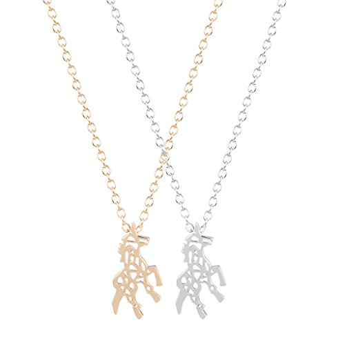 Chengxun Fashion Women Men Horse Unicorn Necklace Animal Statement Choker Collar Charm Pendant (Show Girl Outfits)