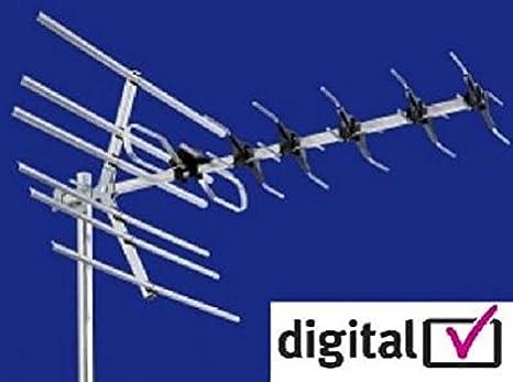 Vision Plus Image 420 UHF Digital Directional TV Antenna for Caravans Motorhomes//Boats White