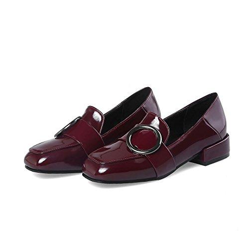 LSM Bouche Wine Bloc MEI Femmes carré Talons Profond Chaussures Red amp;S Peu Tête TaqrwTxBP