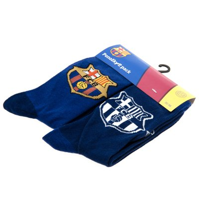Barcelona Soccer Team Socks 2 in 1 Pack