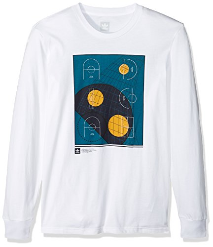 adidas Originals Mens Skateboarding Courts Long Sleeve Tee