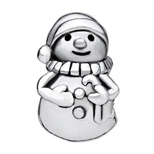 LovelyJewelry Beads European Bead Charm Bracelet Snowman