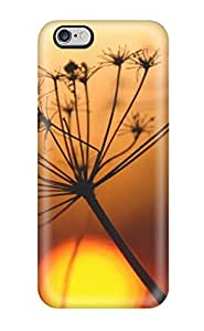 High Quality Shock Absorbing Case For Iphone 6 Plus-plant And Sunset Close Up Macro Background Red Sun Nature Other