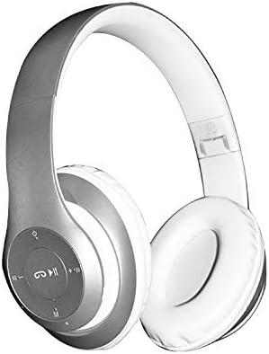 Amazon Com Bluetooth Headphones Wireless Headpohones Clear Good Headgear Wireless 4 1 Headphones Metolic Silver Home Audio Theater