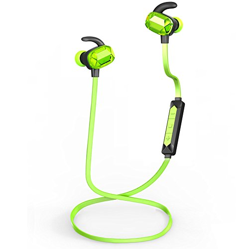Apie Bluetooth Wireless Sports Stereo Headphones Running Jogging Workout Exercise Gym in-Ear Earbuds with...