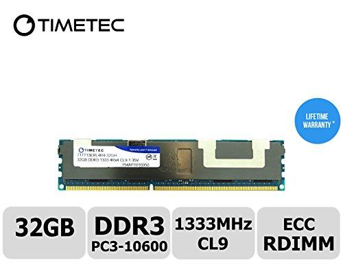 Timetec (T1333RF32GHC) 32GB 1333MHz DDR3L (PC3L-10600) EC...