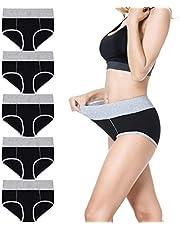 Falechay Onderbroeken dames ondergoed buikweg katoen slips dames panty's hoge taille slip multipack 5-pack