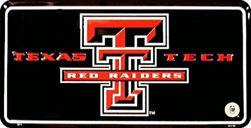 iversity NCAA Tin License Plate (Texas Tech Player)