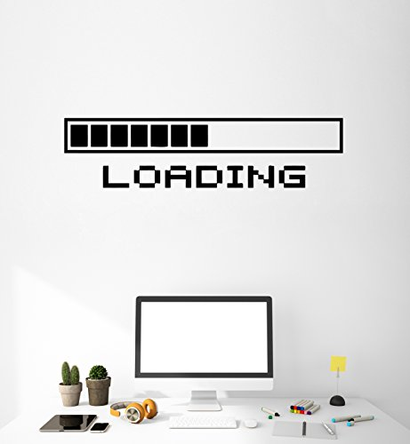 wall-vinyl-sticker-decal-cool-gamer-stuff-computer-loading-a-video-game-ig1169-m-105-in-x-35-in-blac