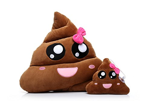 Ignislife Pair of Cute Emojis Poop Pillows Plush Toys Throw Pillows 10 Liter Small Animal Bedding