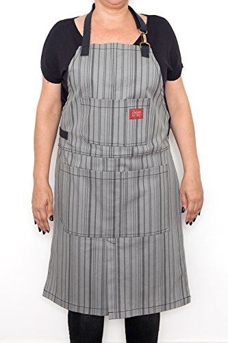 under-ny-sky-split-leg-apron-striped-gray-denim-easy-fastening-cloth-holder