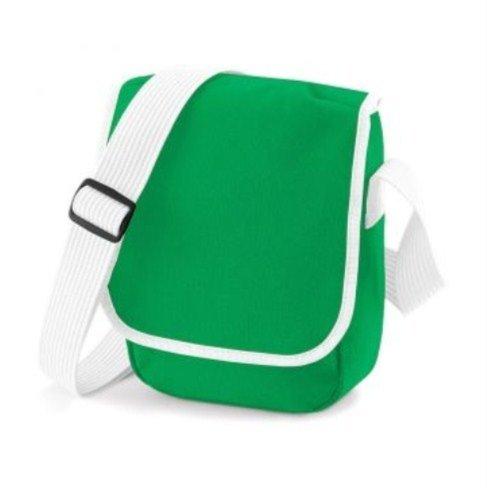 BagBase Mini Reporter, blanco y negro (multicolor) - PC2014-BG18-White Black-ONE Pure Green White