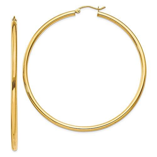 10k Gold Classic Hoop Earrings - 2