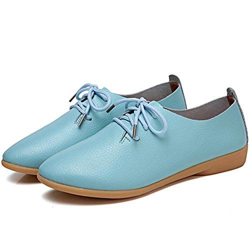 para 1 Cuero de de Moon DoraTasia Color Cordones Mujer Zapatos wXqPIBO