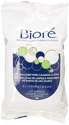 Biore Daily Deep Pore Cleansing Cloths 60 Count (2 Pack)